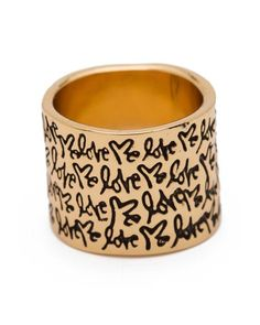 'Love Me' Script Ring.