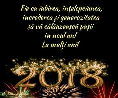 Fie ca iubirea, înțelepciunea, încrederea și generozitatea să vă călăuzească pașii în noul an!