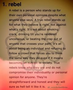 I'm proud to be a part of the Rebel Army