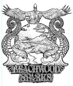 Beachwood Sparks t-shirt art