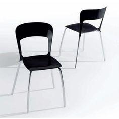 Silla Tafesa Pin-Up. Silla apilable con estructura en aluminio anodizado brillo.  Asiento en material termoplastico nylon.