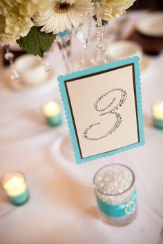 Beautiful table number idea
