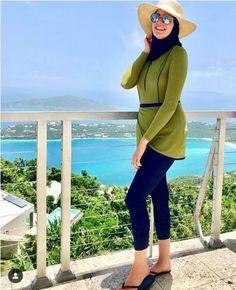 Burkini swimming suits Just Trendy Girls Hijab Fashion Summer, Modern Hijab Fashion, Muslim Fashion, Modest Fashion, Fashion Outfits, Islamic Swimwear, Muslim Swimwear, Prom Girl Dresses, Modest Dresses