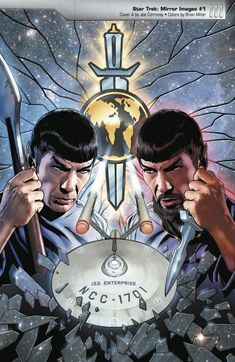 Good Spock and Evil Spock in Mirror, Mirror