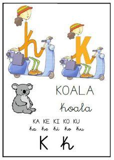 INICIO LECTOESCRITURA: Abecedario de letrilandia Spanish Lessons For Kids, Learning Spanish, Baby Flash Cards, Ludo, Dora, Letter K, Alphabet, Album, Teaching