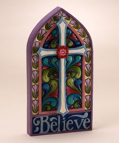 Take a look at this Cross Plaque by Jim Shore on #zulily today!