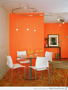 it takes large spaces to use bold colors | dining | pinterest