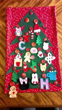 Felt toddler advent calendar