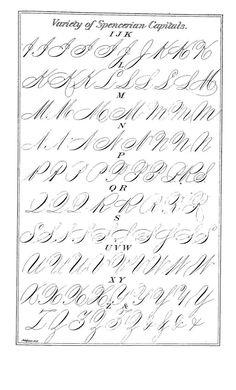 Spencerian Capitals.