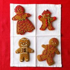 Classic Gingerbread Cookies! Flavored with molasses, ginger, cinnamon and cloves.