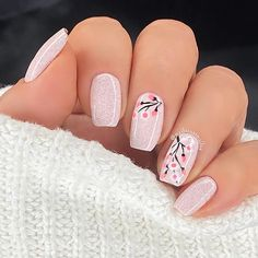 Pink Acrylic Nail Designs, Light Pink Nail Designs, Light Pink Acrylic Nails, Classy Acrylic Nails, Light Colored Nails, Pink Pedicure, Cherry Blossom Nails, Cotton Candy Nails, New Retro Wave