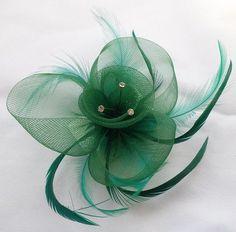 Große Strass Blume &Feder auf Haarklammer &Jade Grün, Motiv: 4003: Amazon.de: Küche & Haushalt