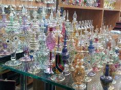 Hand made Perfume bottles  www.safkoku.com  El yapımı üfleme cam parfüm şişeleri
