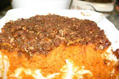 I am definitely making this for Thanksgiving - Sweet Potato Casserole from Lace, Etc.