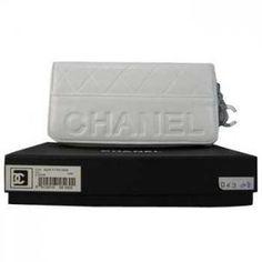Chanel Blanc Zip grand portefeuille Pas Cher CCS126,sac chanel france   €76.00
