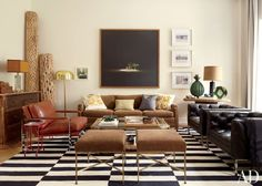 Traditional Living Room by Nate Berkus in New York, New York