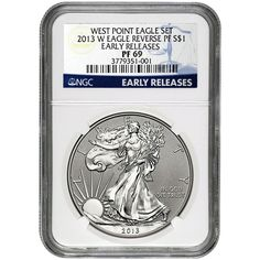 2013-W Silver American Eagle West Point 2pc Set 69 UC ER NGC Blue Label / Reverse Proof