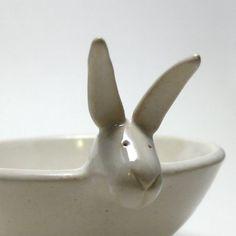 Bunny Berry Bowl in Eggshell White. via Etsy. - a. speer studio