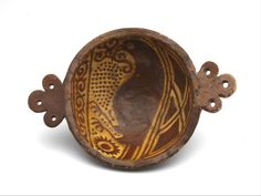 porringer, 1550 - 1600 diam. 16.5 cm sgraffito, lead glaze, slip glaze, redware  The Netherlands > South Holland > Leiden)