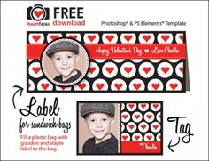 Sandwich bag label and gift tag