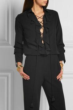 Chloé   Ruffled silk crepe de chine blouse   NET-A-PORTER.COM
