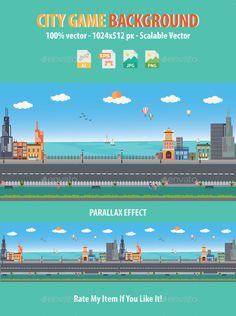 City Game Background — Vector EPS #mobile #adventure • Available here → https://graphicriver.net/item/city-game-background/18981287?ref=pxcr