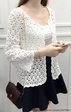 # Crochet # Cardigan # Expressive bead camping models # # crocheted circle models or constructions # # crocheted circle models # – cardigan Crochet Jacket Pattern, Gilet Crochet, Black Crochet Dress, Crochet Cardigan Pattern, Crochet Blouse, Crochet Shawl, Knit Crochet, Freeform Crochet, Crochet Capas
