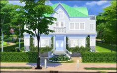 Swedish jugend villa at Hvikis via Sims 4 Updates