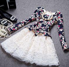 Lace long-sleeved dress AX082807ax
