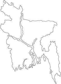 bangladesh map outline - Google Search
