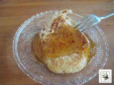"""Pancake with """"anthotiro"""" Greek cheese and honey #breakfast, #vegetarian, #greekbreakfast"""