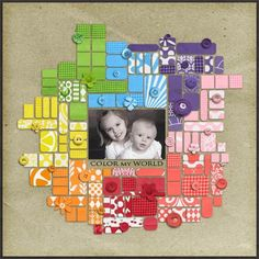 Scrapbooking Layout Page Idea: great for using up scraps