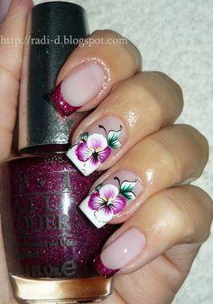 Gorgeous Flower Nail Art ♡