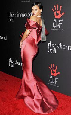 rihanna red carpet dresses - Google Search