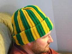 men's green winter cap #TribePride #WMAlumni #WMAA