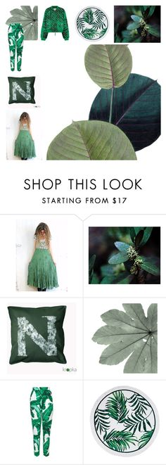 """""""Let's go botanical"""" by kropkadesign ❤ liked on Polyvore featuring Dolce&Gabbana and Moschino"""