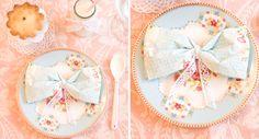 petite homemade napkin bow TUTORIAL