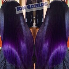 I like that this looks black with purple ends. Nice Custom color purple hair a POP of COLOR,Crown & Glory,Hair,Hair & Beauty,Hair Weave Hairstyles, Pretty Hairstyles, Hairstyles Men, Black Hairstyles, Color Fantasia, Curly Hair Styles, Natural Hair Styles, Beautiful Hair Color, Looks Black