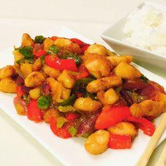#asia Sweet & Sour mit Chicken #delicious #selfmade #kochblog #huhn #chinesefood #asiafood #lecker #Kochrezepte #rezepte #rezeptideen #blog #megalecker #gaumenschmaus #hunger #hühnchenbrust #enjoy #essen #omnomnom #nomnom #Schweiz #instafood Asia Food, Pork, Chinese, Sweet, Ethnic Recipes, Blog, Cooking Recipes, Cooking, Eten