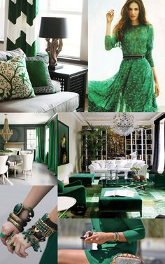 Emerald is making its way from the runway to the home - look out for emerald home accessories from Surya!