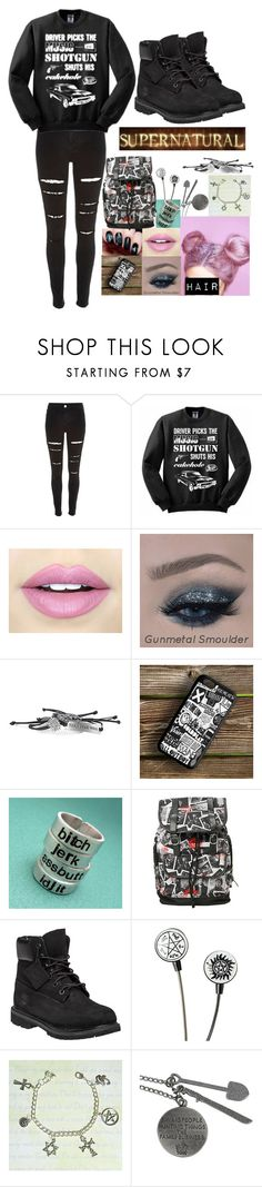 """""""Supernatural"""" by stilldreamin ❤ liked on Polyvore featuring moda, River Island, Fiebiger e Timberland"""