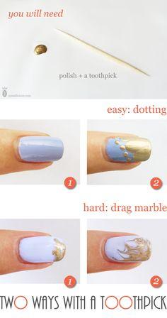 35 Best Toothpick Nail Art Images On Pinterest Fingernail Designs