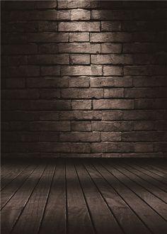 Vintage Brick Wall Photography Backdrops Wood Floor Vinyl Photo Background 5x7ft #UnbrandedGeneric #BrickWalls