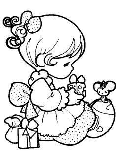 Precious Moments Christmas Coloring Pages | Click on picture to enlarge