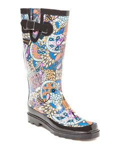 Boho Floral Rainboot...I think the colors are just great