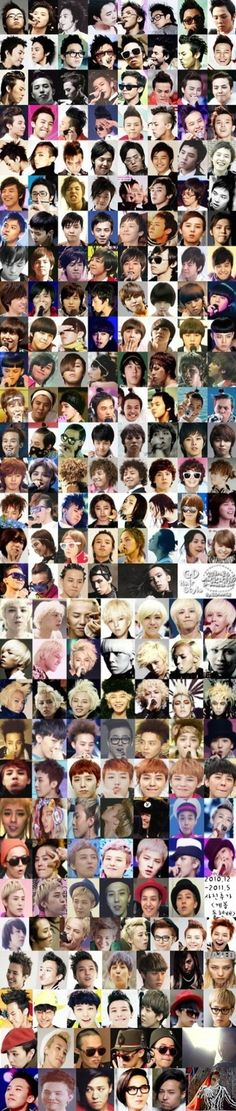Pics grouped in the different eras of GD's career~from pre-debut till February 2012