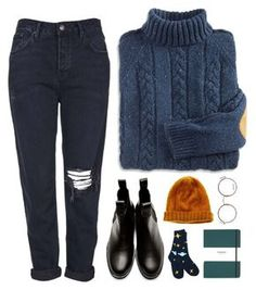 A fashion look from December 2015 by sulk-y featuring Topshop, Comme des Garçons, Moscot, Madewell and Shinola Fall Winter Outfits, Winter Fashion, Noora Style, Casual Outfits, Fashion Outfits, Simple Edgy Outfits, Grunge Outfits, Fashion Women, Women's Fashion