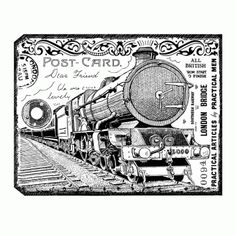Steam train stamp from crafty individuals collection