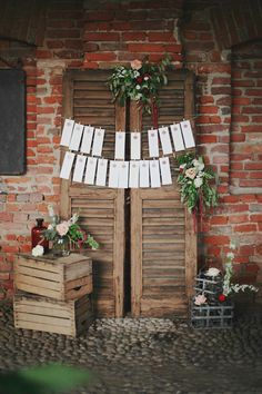 Rustic Seating Plan | Sweet Italian Wedding with Rustic DIY Styling | Paola Colleoni | Bridal Musings Wedding Blog
