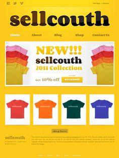 T-shirt Website Template Free Html Website Templates, Web Internet, Fashion Beauty, Blog, T Shirt, Tee Shirt, T Shirts, Tee